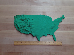 USA Topography - Less Plastic