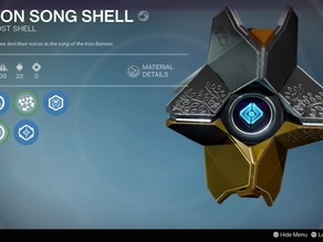 Destiny Ghost Iron Song Shell