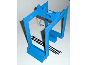 Railway container terminal HO-scale
