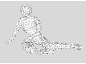 Seated Female Voronoi