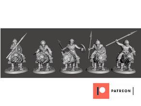 28mm - Orc / Goblin / Hobgoblin Wolf Rider Cavalry Squad pt1