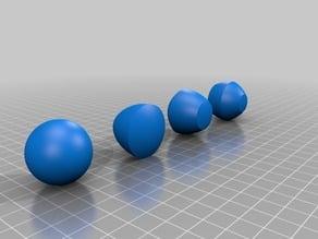 Non-round spheres