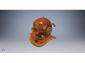Mark V Dive Helmet (Fully Printable)