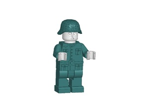Lego Miniman german soldier WWII