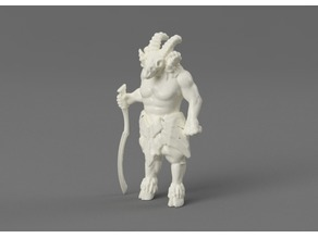 Egyptian demon beast with Khopesh sword