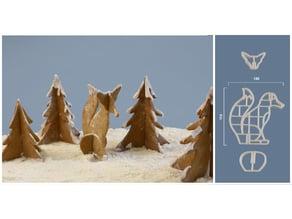 Fox & Tree COOKIE CUTTER