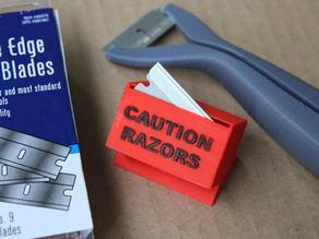 Used Razor Storage and Disposal Box