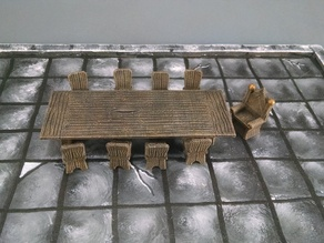 28mm Lord's Banquet Table and Chairs