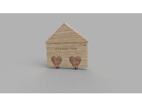 CL Make - Home Heart Keychain