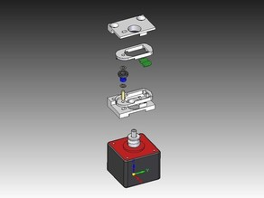 MK8 Filament Guide spring loaded W/bearing