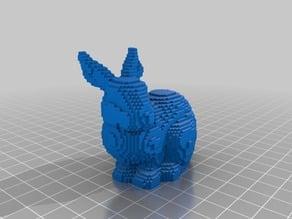 standford bunny lego bricks