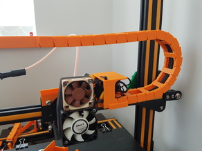 Creality CR-10 X axis cable drag chain