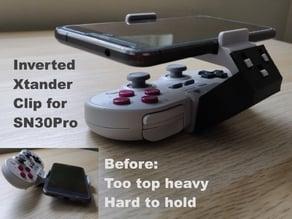 Inverted XTander Clip for 8BitDo SN30Pro