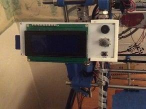 LCD Mount - 13 Grams! RepRap Discount Smart Controller Prusa/Mendel + Others