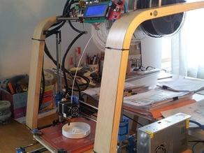 Plastic parts for 3d Poang Printer
