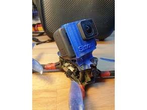 GoPro Hero 5,6,7 mount for Emax Hawk 5 with antenna mount