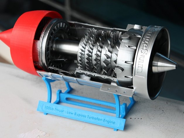 Low Bypass Turbofan Jet Engine By Gahwar Thingiverse