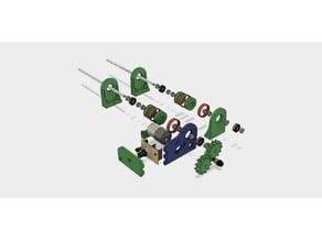 Rotary/Rock Tumbler machine for polishing - (Small printer bed)