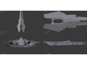 Elite Dangerous, Farragut Battle Cruiser (work in progress)