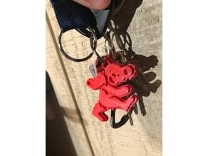 Grateful Dead Bear keychain