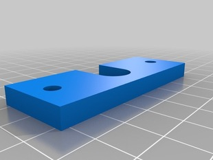 E3D hotend simple mount plate