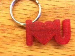 I love U keychain
