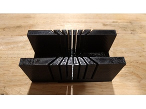 Miter box for US 1-inch PVC pipe (35mm)