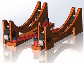 Stable, Adjustable-Width Spool Holder Using 608 Bearings