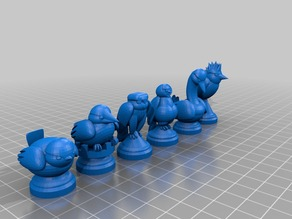Bird Chess Set