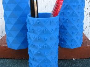 Octagonal Antiprism Pencil Holders