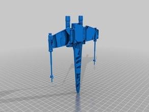 Star Wars X Wing Fighter Halves