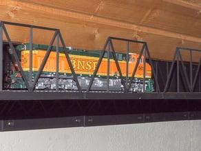 HO model train track wall mount