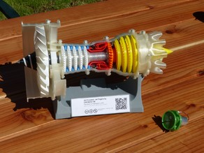 3D Printable Jet Engine, motorized