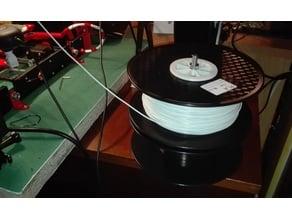 horizontal filament spool holder - spool recycle