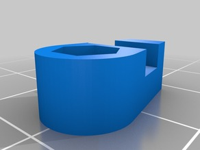 Clip for rear cooling duct for Flashforge Creator Pro