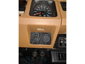 SN Jeep YJ Right AUX Panel cig and toggle v1