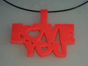Special Valentine's Day I_Love_You Keychain Necklace