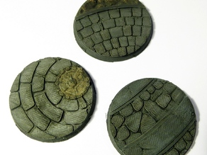 Wargaming bases: 40mm medieval town bases