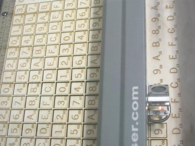 Hex Scrabble... during cut panoramic