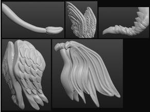Sculptris OBJ Bits: Wings and Tails