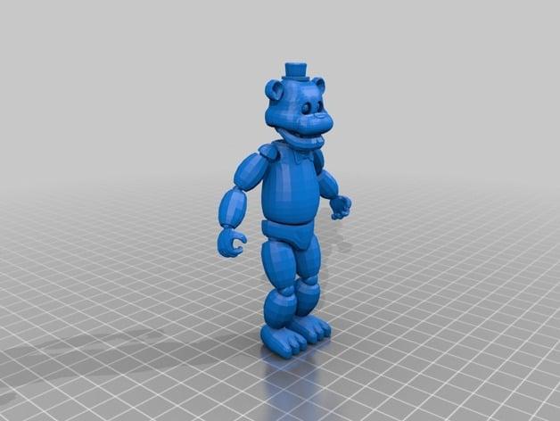 Freddy Fazbear By Pixeldonovan Thingiverse