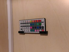 Wall Holder for LED remote controls of all sizes