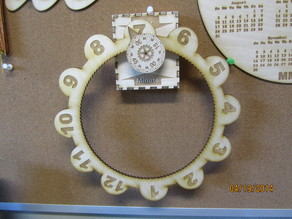 Laser cut gear O'clock with a redesigned hour wheel.