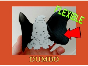 Dumbo dibujo 3D flexible