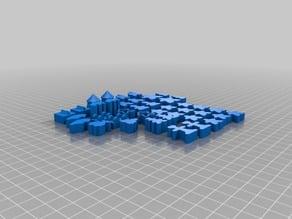 RifRaf 3D Carcassonne Full Meeple Set -Reduced size