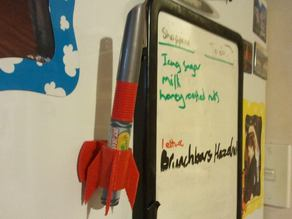 Fridge whiteboard marker holder