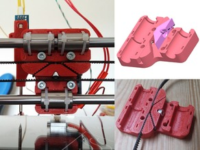 Redesigned Prusa i3 X carriage