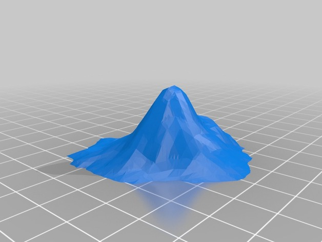 3d print a volcano by mfritz