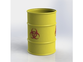 Biohazard Barrel 1:10 Scale