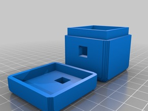 Box and Lid with hole for combination lock shackle